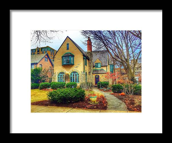 Home Framed Print featuring the photograph Charming Home by Louis Perlia