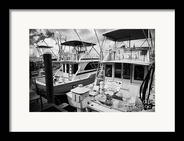 Charter Framed Print featuring the photograph Charter Fishing Boats In The Old Seaport Of Key West Florida Usa by Joe Fox