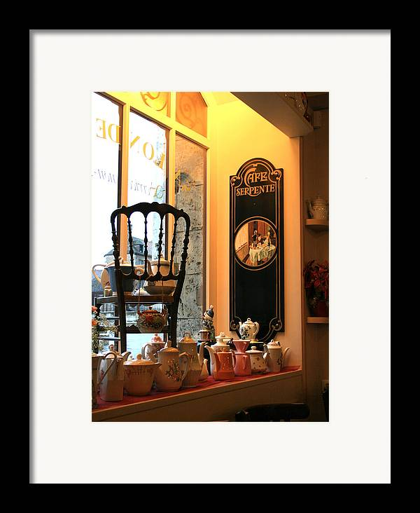 Chartres Framed Print featuring the photograph Chartres Cafe by A Morddel
