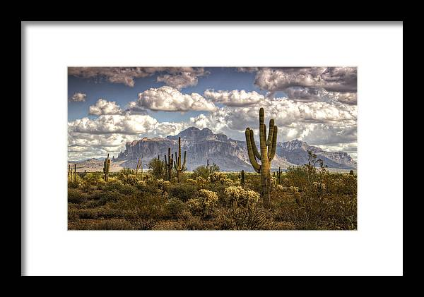 Arizona Framed Print featuring the photograph Chasing Clouds Two by Saija Lehtonen