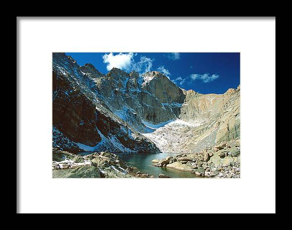 Landscape Framed Print featuring the photograph Chasm Lake by Eric Glaser