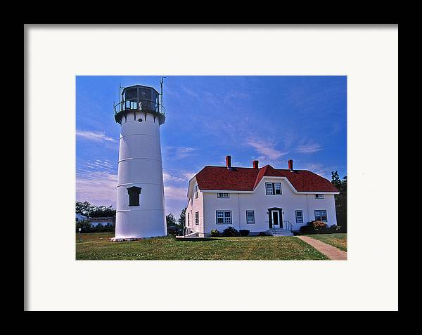 Lighthouses Framed Print featuring the photograph Chatham Light by Skip Willits