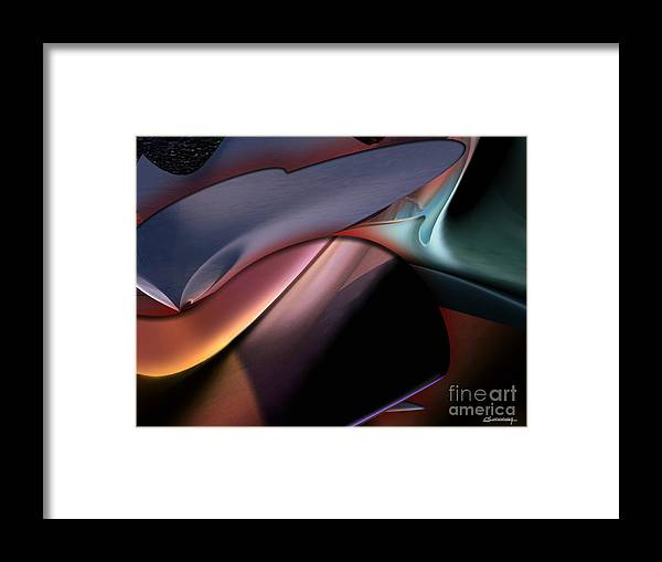 Chatting Framed Print featuring the painting Chatting by Christian Simonian