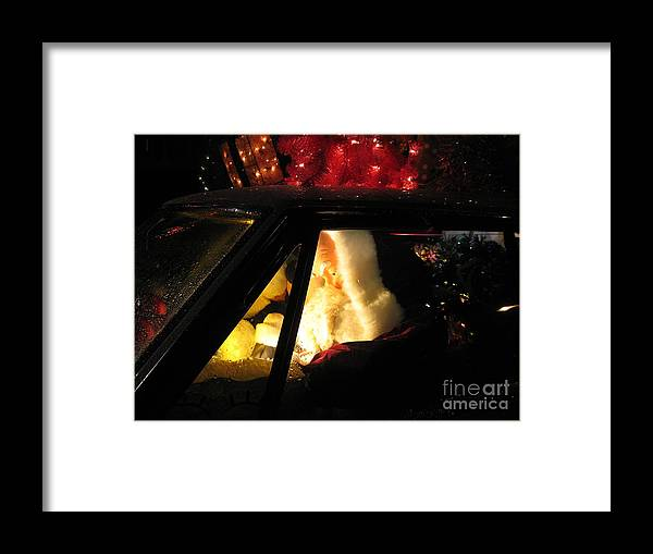 Christmas Framed Print featuring the photograph Checking It Twice by Nancy Dole McGuigan