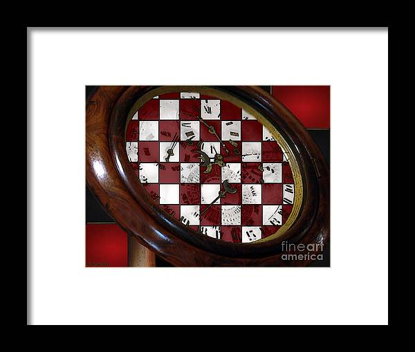 Antique Framed Print featuring the painting Checkmate by RC DeWinter