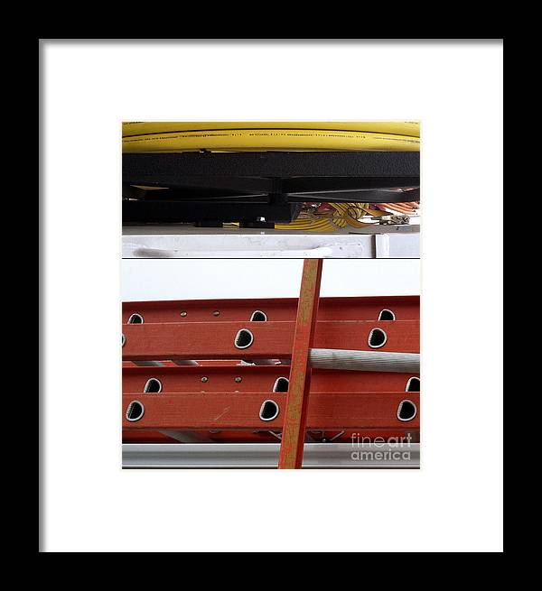 Construction Framed Print featuring the photograph Cheery O's by Marlene Burns