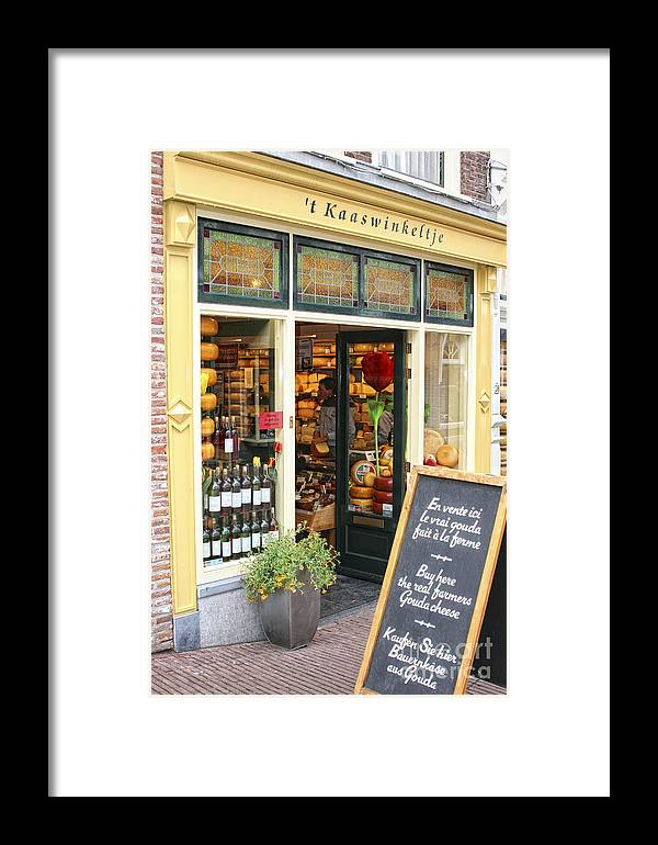Holland Framed Print featuring the photograph Cheese Shop by Timothy Hacker