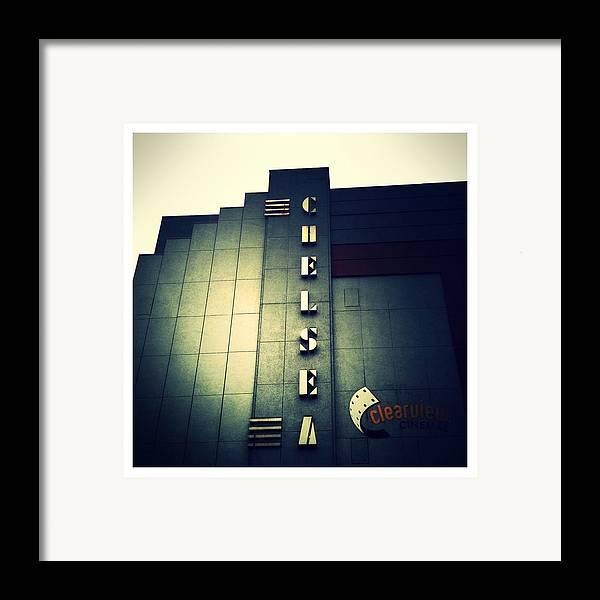 Chelsea Cinemas Framed Print featuring the photograph Chelsea Art Deco Blue by Natasha Marco