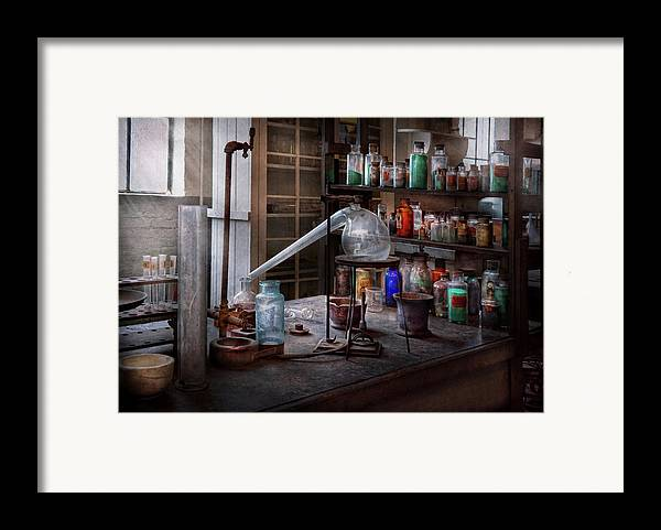 Hdr Framed Print featuring the photograph Chemist - My Retort Is Better Than Yours by Mike Savad