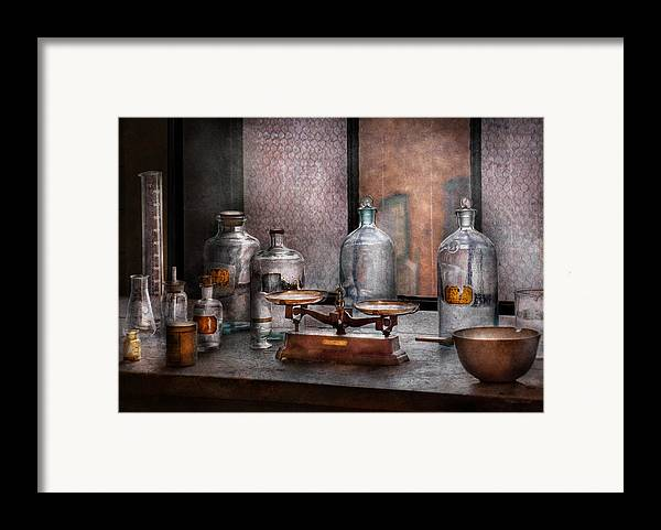 Hdr Framed Print featuring the photograph Chemist - The Art Of Measurement by Mike Savad