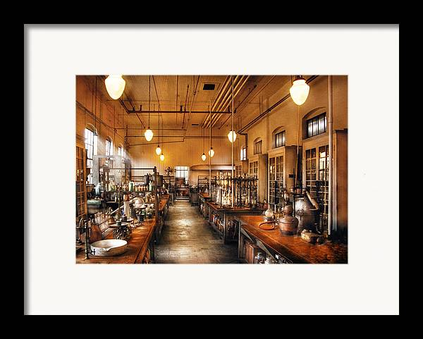 Savad Framed Print featuring the photograph Chemist - The Chem Lab by Mike Savad