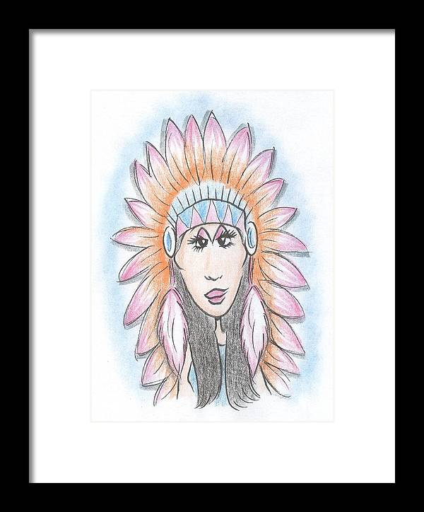 50950cb7f Cher Framed Print featuring the drawing Cher Half Breed by Scott Clarke