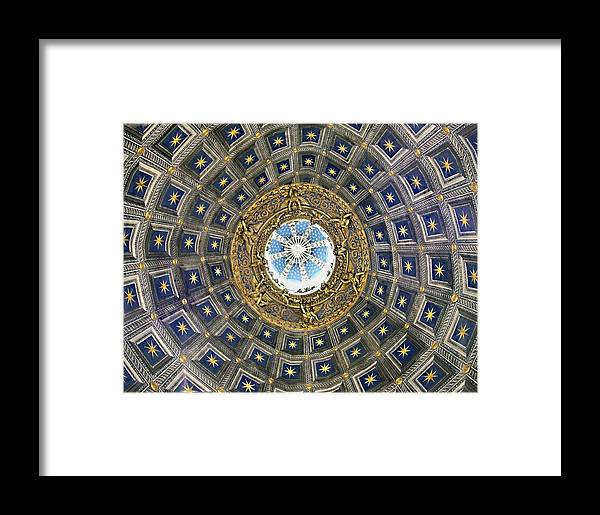 Cherubic Cupola Framed Print featuring the photograph Cherubic Cupola by Ellen Henneke