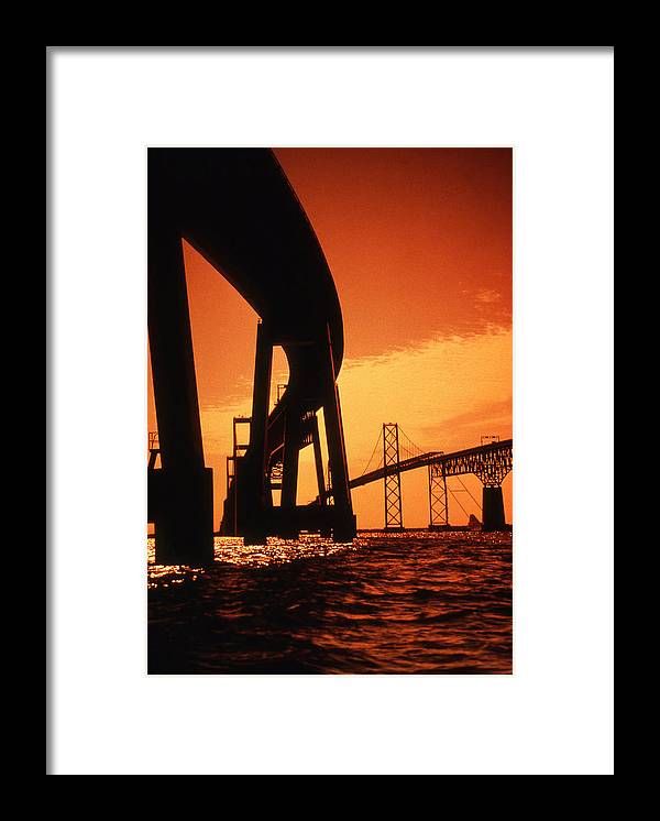 Bay Framed Print featuring the photograph Chesapeake Bay Bridge by Skip Willits