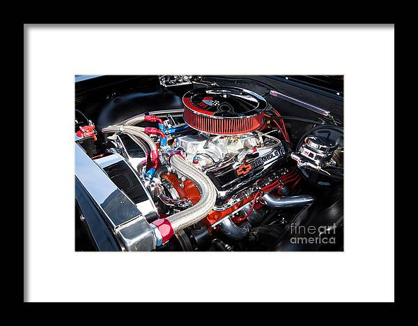 375 Hp Framed Print featuring the photograph Chevy 396 by Lawrence Burry