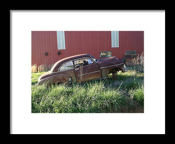 Chevy Framed Print featuring the photograph Chevy Deluxe by Nina Fosdick