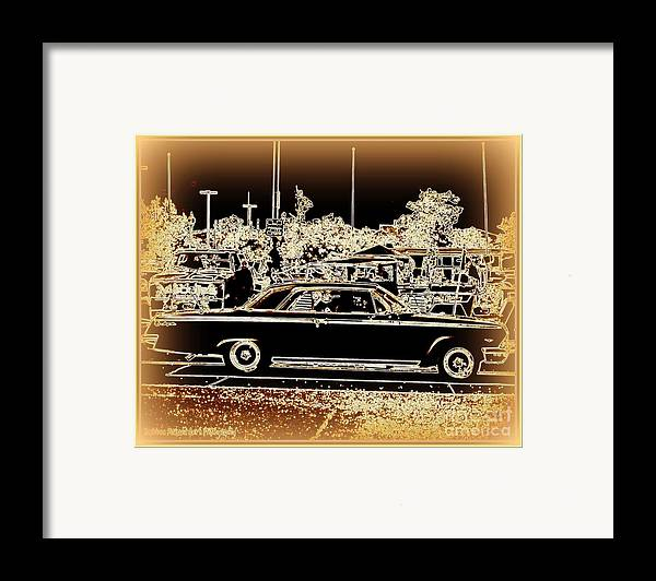 Prints On Canvas Framed Print featuring the photograph Chevy Glow by Bobbee Rickard