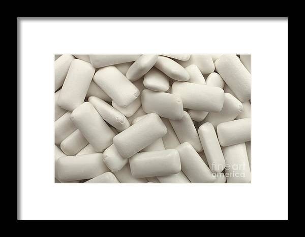 Chewing Gum Framed Print featuring the photograph Chewing Gum Pellets by Peter Hatter
