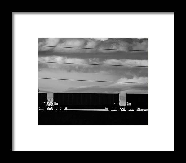 Trains Framed Print featuring the photograph Cheyenne Wy Train Yard Dec 2014 by Catherine Blake