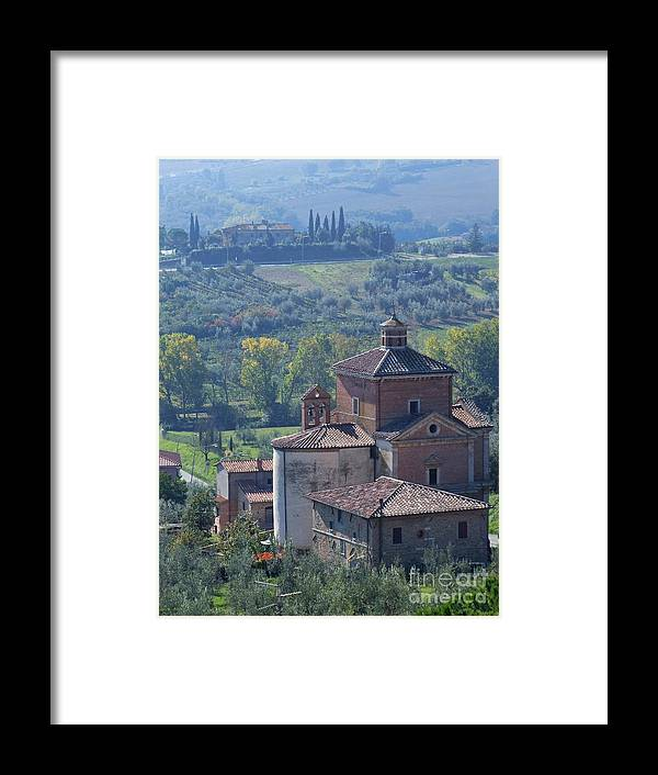 Chianciano Terme Framed Print featuring the photograph Chianciano Terme - Tuscany by Phil Banks