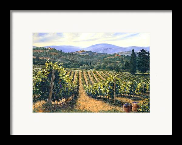 Chianti Vines Framed Print featuring the painting Chianti Vines by Michael Swanson