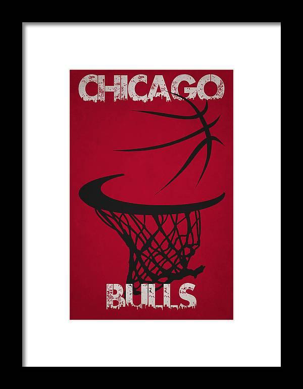 Bulls Framed Print featuring the photograph Chicago Bulls Hoop by Joe Hamilton