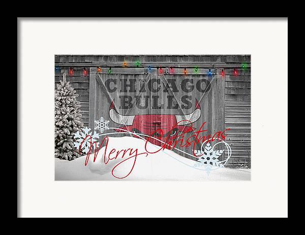 Bulls Framed Print featuring the photograph Chicago Bulls by Joe Hamilton