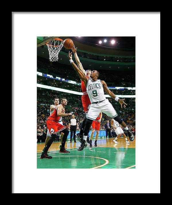 Chicago Bulls Framed Print featuring the photograph Chicago Bulls V Boston Celtics by Jared Wickerham