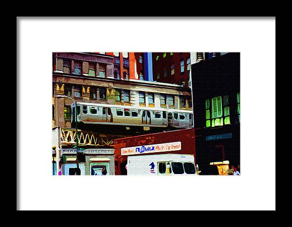 Chicago Framed Print featuring the painting Chicago by CHAZ Daugherty