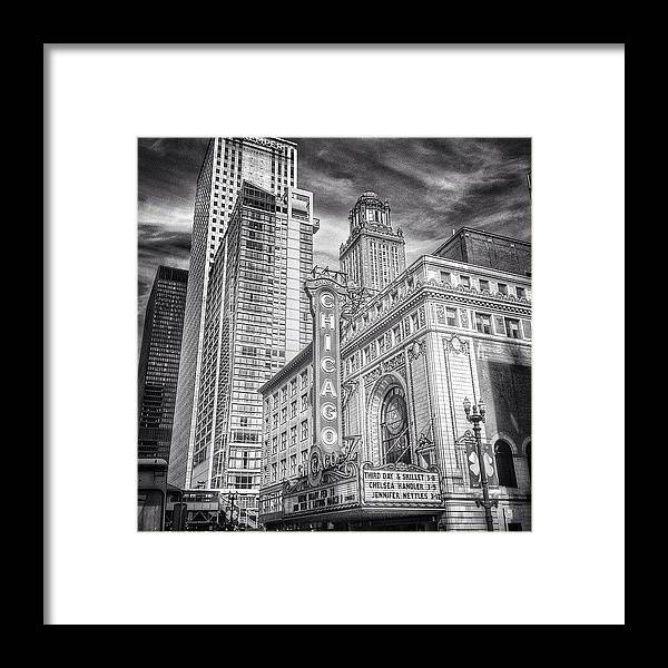 Theater Framed Print featuring the photograph #chicago #chicagogram #chicagotheatre by Paul Velgos