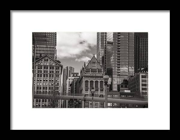 Chicago Framed Print featuring the photograph Chicago Crosswalk by John McGraw