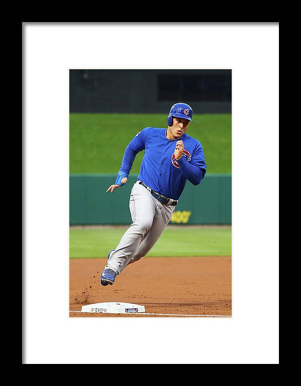 Second Inning Framed Print featuring the photograph Chicago Cubs V St. Louis Cardinals by Dilip Vishwanat