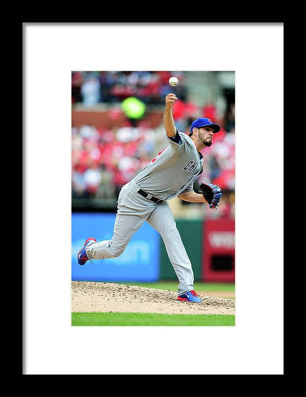 St. Louis Framed Print featuring the photograph Chicago Cubs V St. Louis Cardinals by Jeff Curry