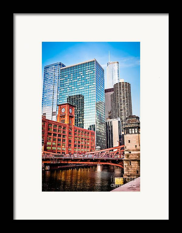 America Framed Print featuring the photograph Chicago Downtown At Lasalle Street Bridge by Paul Velgos