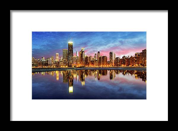 Tranquility Framed Print featuring the photograph Chicago by Joe Daniel Price