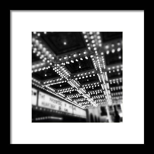 America Framed Print featuring the photograph Chicago Oriental Theatre Lights by Paul Velgos