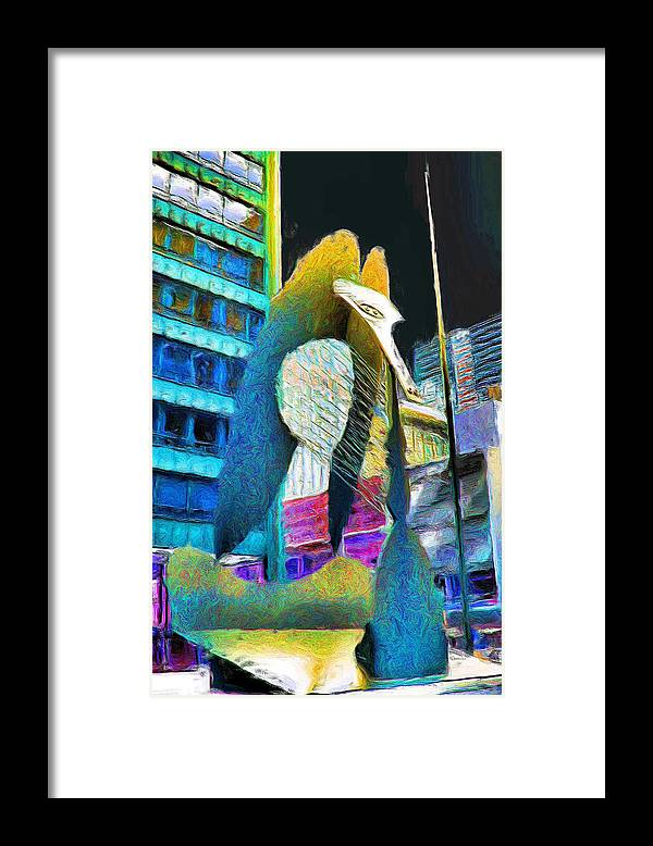 Chicago Picasso Framed Print featuring the painting Chicago Picasso by Ely Arsha