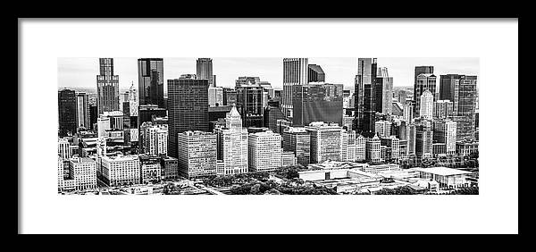 2013 Framed Print featuring the photograph Chicago Skyline Aerial Panorama Photo by Paul Velgos