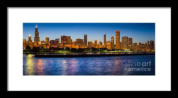 America Framed Print featuring the photograph Chicago Skyline by Inge Johnsson