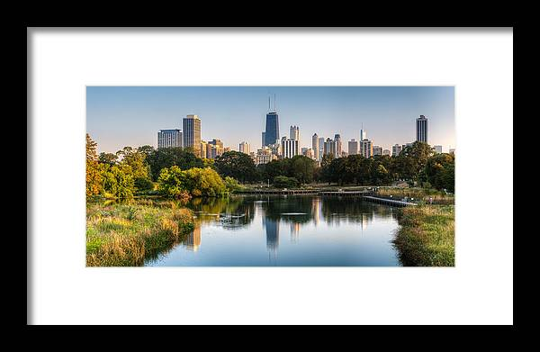 Chicago Framed Print featuring the photograph Chicago Skyline Reflection by Chris Smith