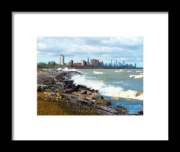 Chicago Framed Print featuring the photograph Chicago South Lakefront by Cedric Hampton
