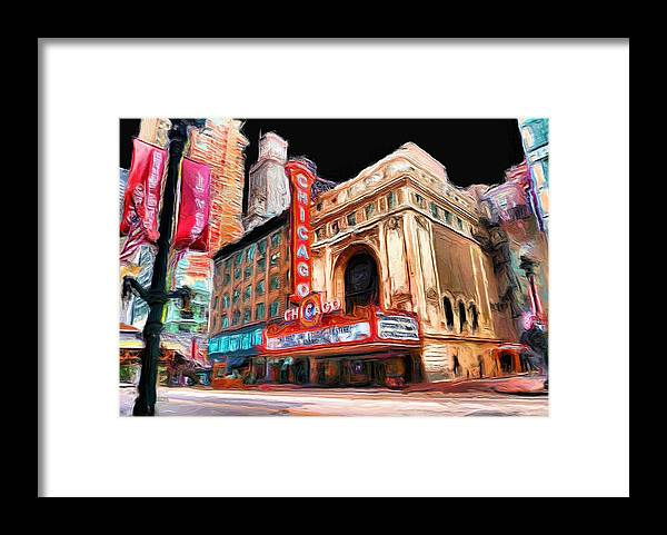 Chicago Framed Print featuring the painting Chicago Theater - 23 by Ely Arsha