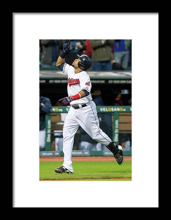 Second Inning Framed Print featuring the photograph Chicago White Sox V Cleveland Indians by Jason Miller