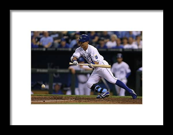 American League Baseball Framed Print featuring the photograph Chicago White Sox V Kansas City Royals by Ed Zurga