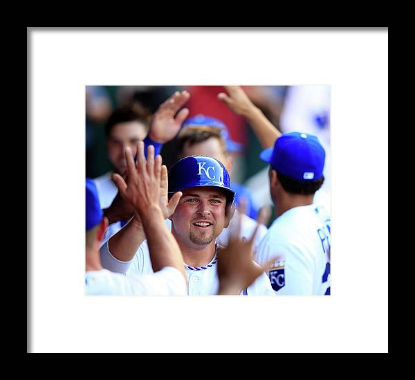 American League Baseball Framed Print featuring the photograph Chicago White Sox V Kansas City Royals by Jamie Squire