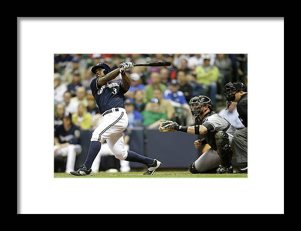 American League Baseball Framed Print featuring the photograph Chicago White Sox V Milwaukee Brewers by Mike Mcginnis