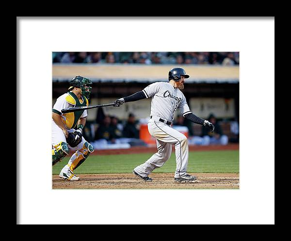 Adam Laroche Framed Print featuring the photograph Chicago White Sox V Oakland Athletics by Ezra Shaw