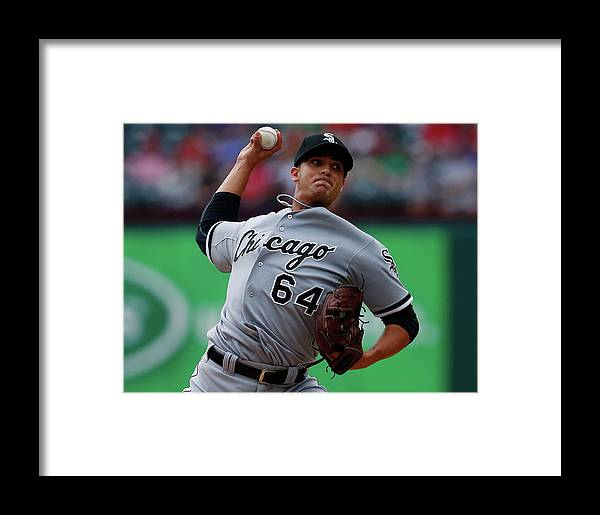 American League Baseball Framed Print featuring the photograph Chicago White Sox V Texas Rangers by Tom Pennington