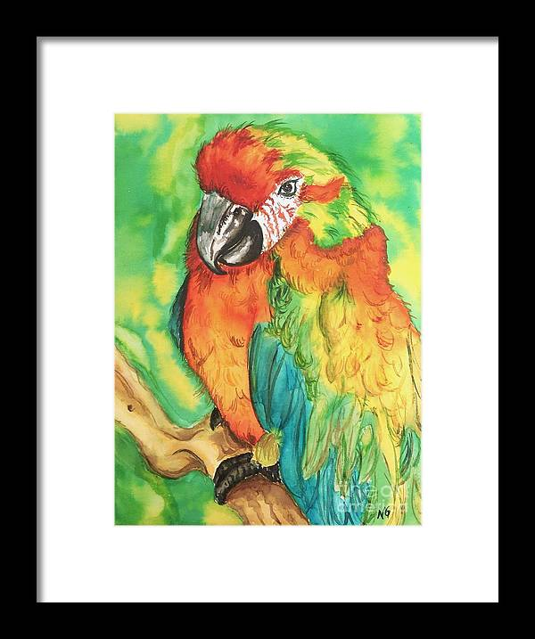 Nature Framed Print featuring the painting Chico by Norma Gafford