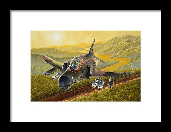 F-4 Framed Print featuring the painting Chico The Gunfighter by Wade Meyers